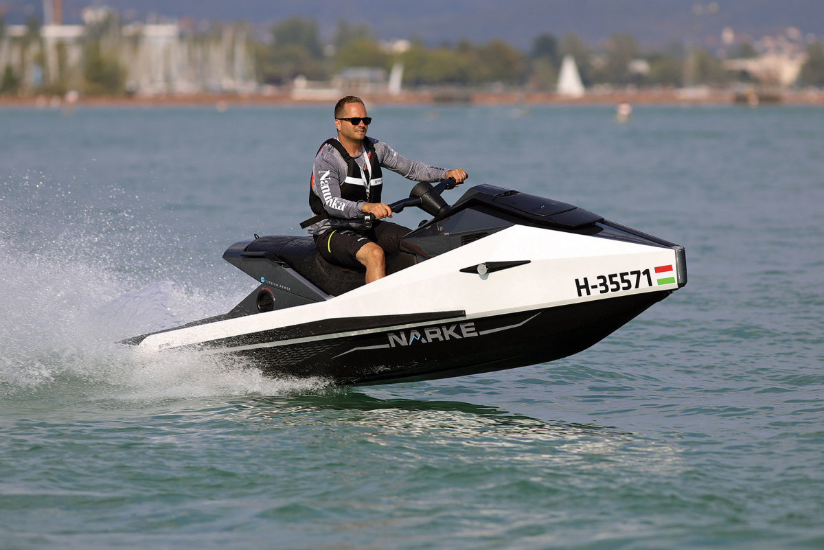 Because of its length, the Narke Electrojet is classified as a small boat, rather than a PWC.