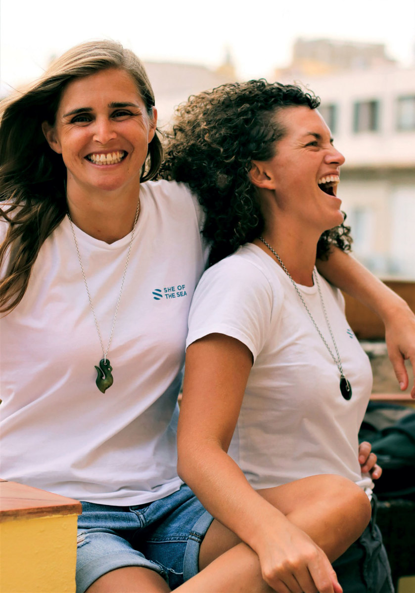 She of the Seafounders Natasha Ambrose (left) and Jenny Matthews.