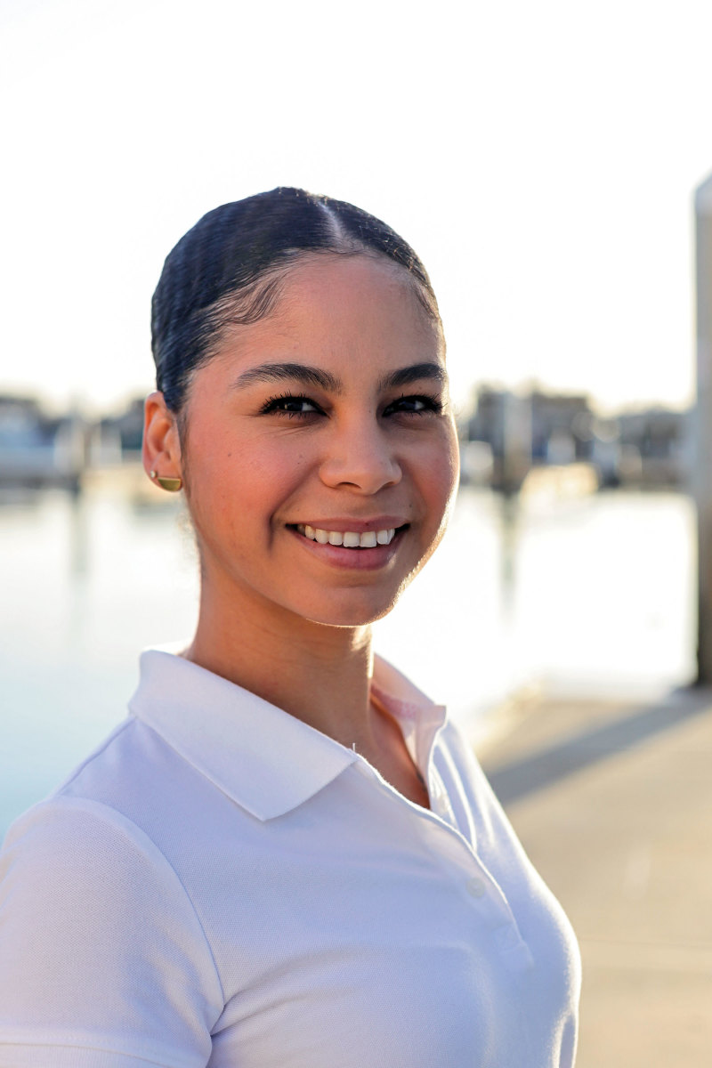 """Superyacht chief stewardess Gabriela Barragan is the host of the """"Diversity in Yacthing"""" podcast."""