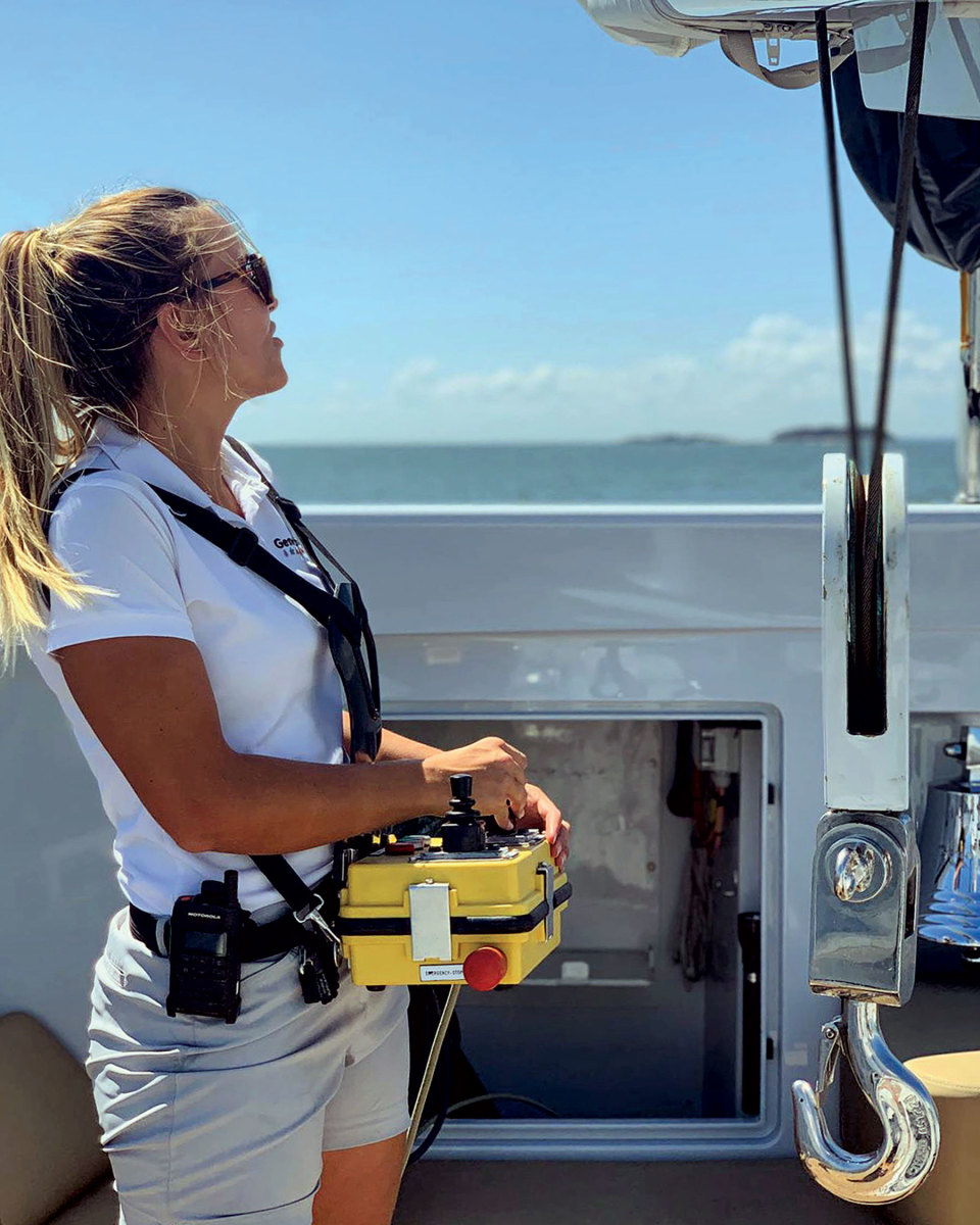Liberty Nogueira is a bosun, an integral part of a superyacht'sdeck crew.