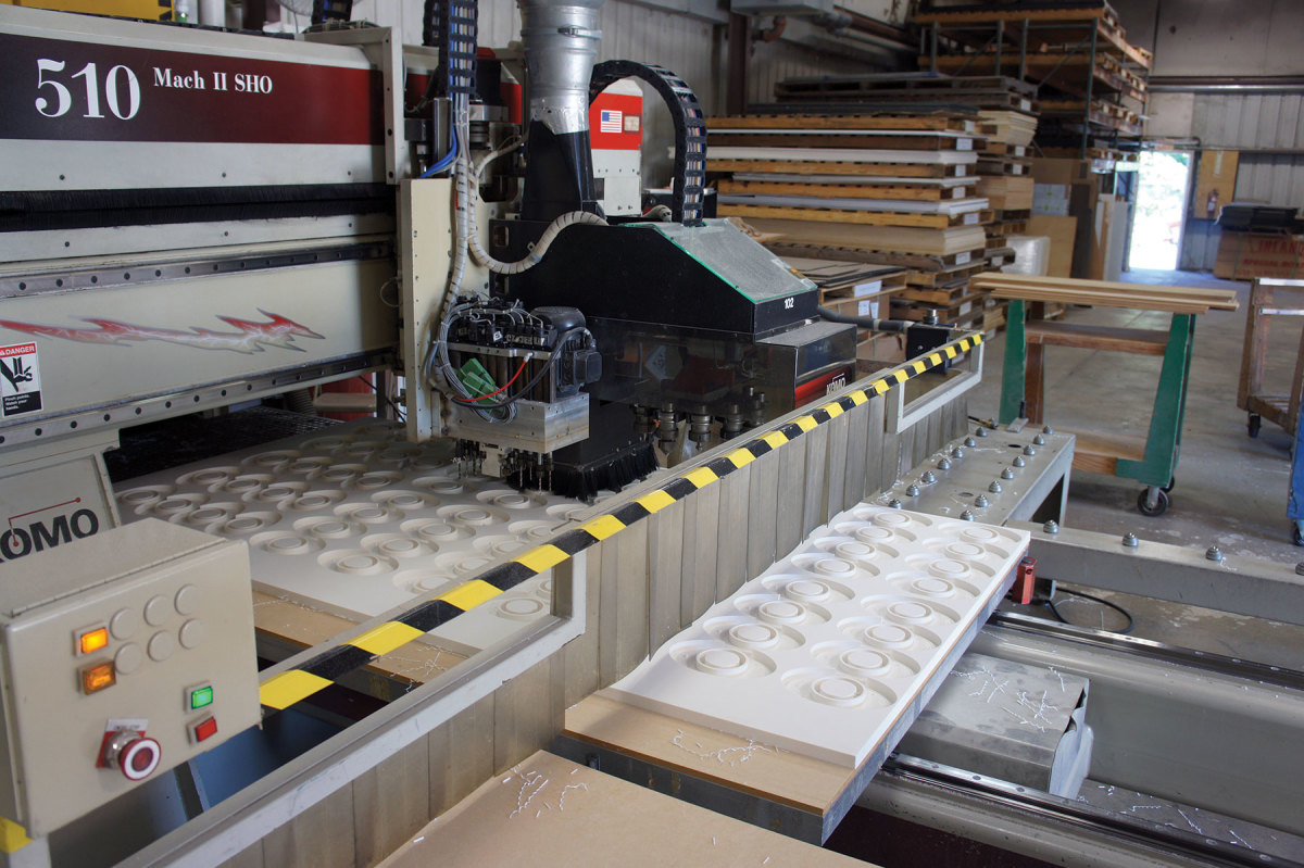 Teak Isle has 11 CNC  routers in operation and plans to add four more.