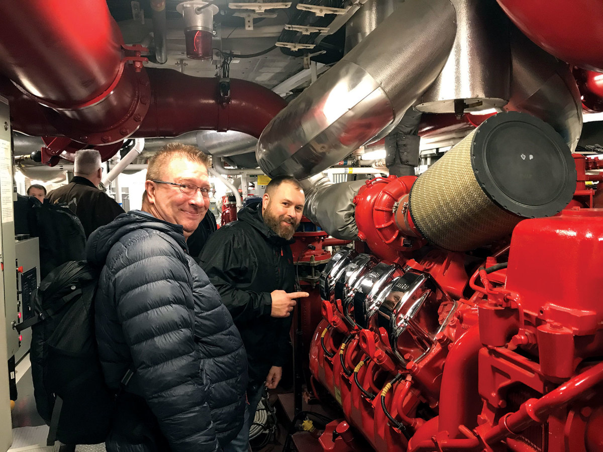 Fireboat training is part of the Core Plus Maritime curriculum.