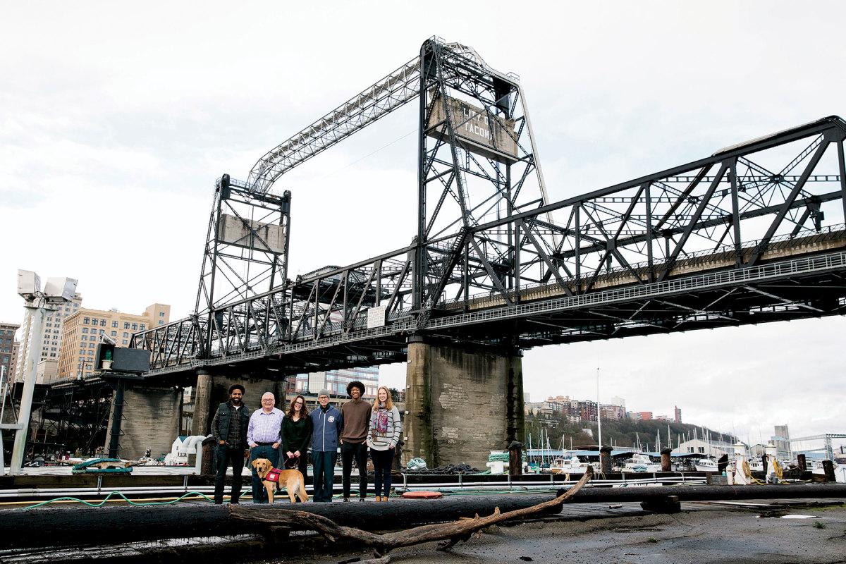 The Tacoma Boat Builders staff (from left): Jason Reddock, Dan Mason, Shannon A. Shea, Chuck Graydon, Isaiah Rivera and Jessica Crask.