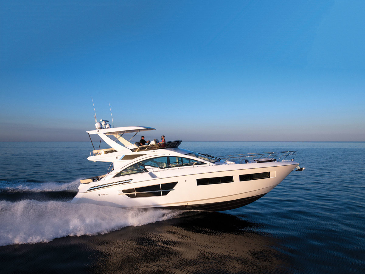 Cruisers' larger models fill the void for U.S.-built sport and flybridge yachts that was created when Sea Ray exited that segment in 2018.