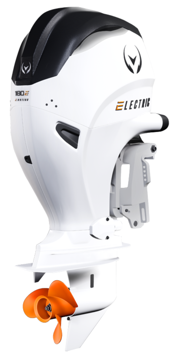 Limestone plans to offer Vision Marine's 180-hp electric outboard as an option on some Aquasport and Limestone models.