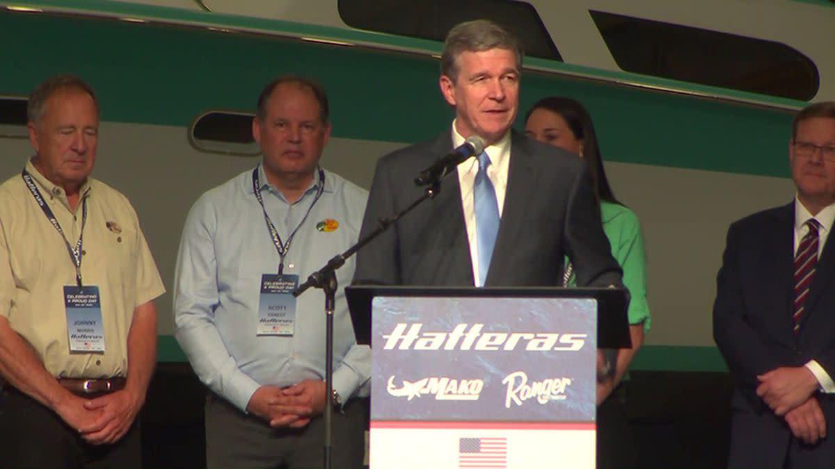 North Carolina Gov. Roy Cooper announced the acquisition in New Bern.