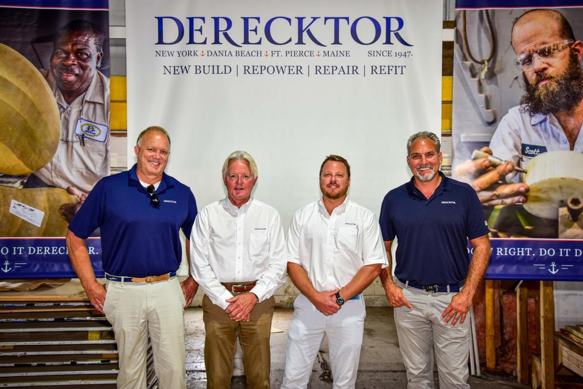The Derecktor Florida sales team (from left): Doug Morrison, Glen Allen, Justin Beard and Derik Wagner.