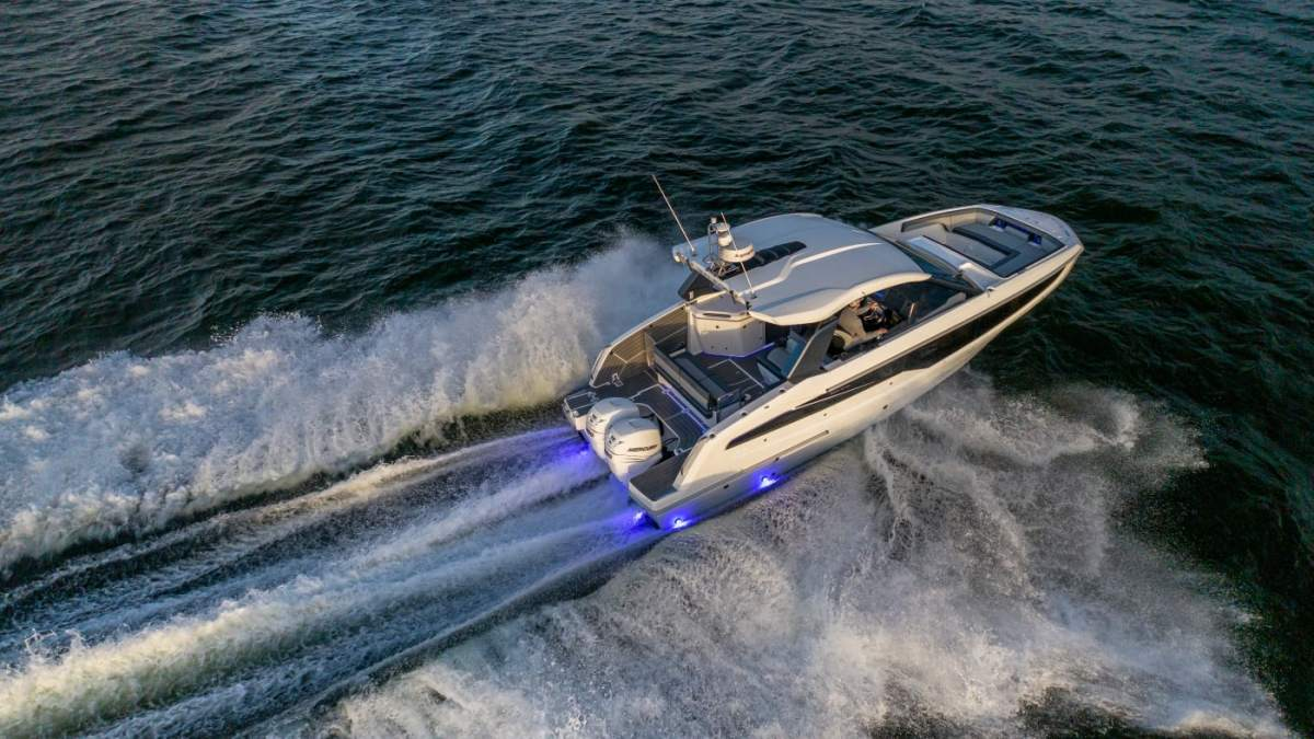 Its first outboard model, the 325 GTO, was launched in January.