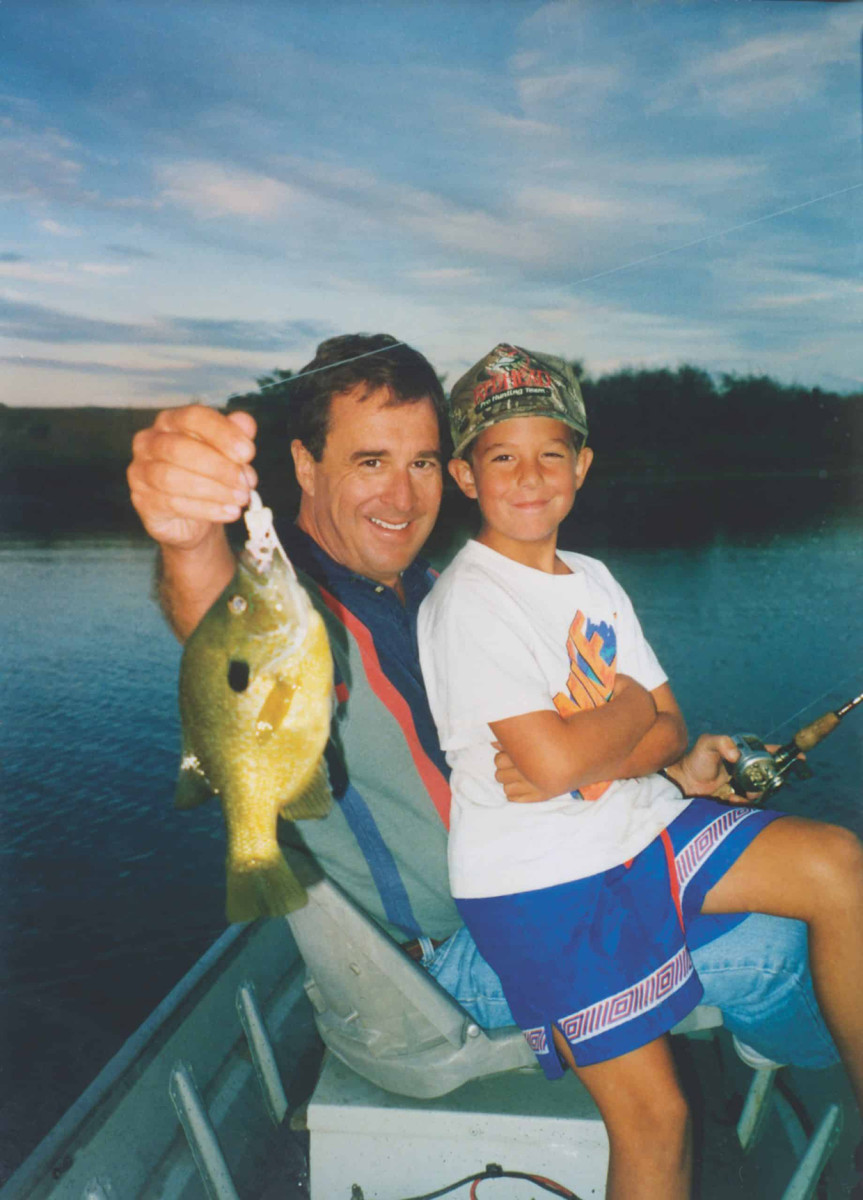 Bass Pro Shops founder Johnny Morris with his son Paul.