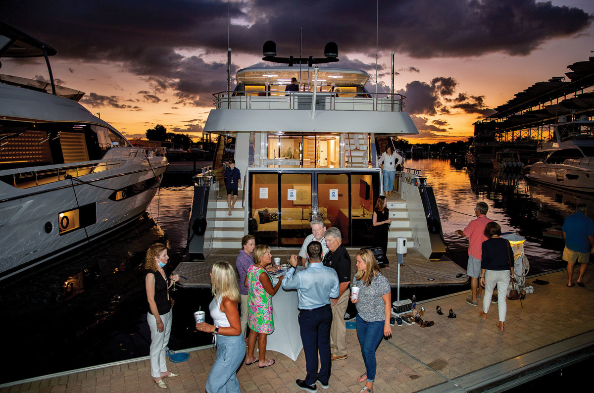 Events, getaways and social gatherings with new and potential clients will help keep people in boating, McGill says.