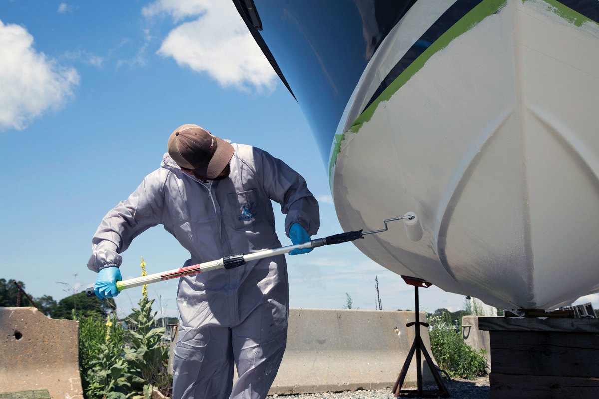 AkzoNobel's low-VOC, water-based Navigator is formulated to meet stricter future regulations.