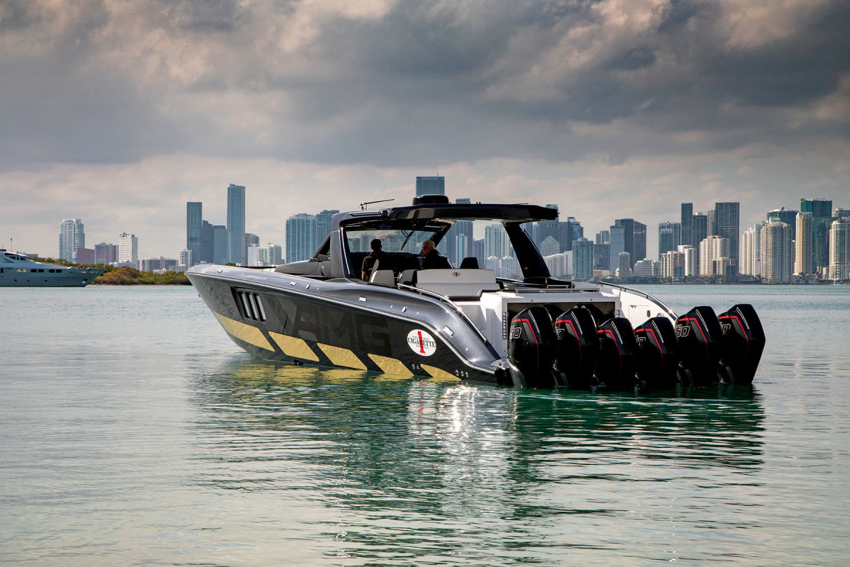 The company's flagship 59 Tirranna debuted in 2019 and honors 50 years of offshore racing.