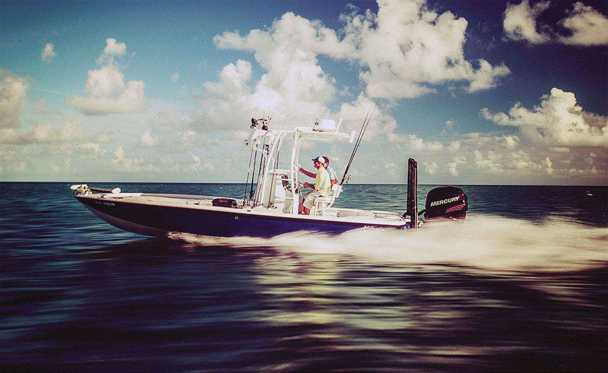 Yellowfin bay boats, skiffs and hybrids range from 17 to 26 feet.