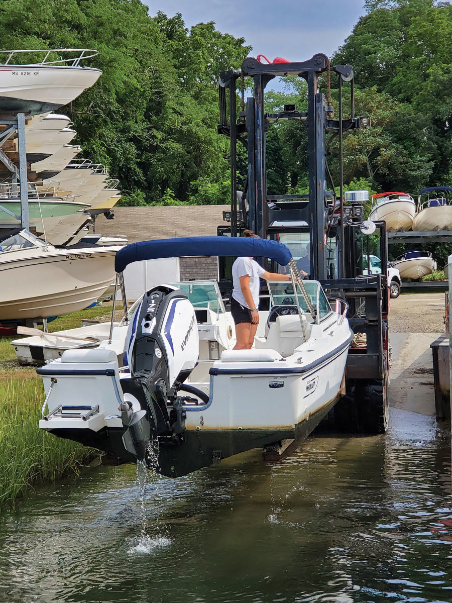 Nauset Marine executes a plan that gets dry-stack customers on and off the water in a timely manner, especially on busy days.