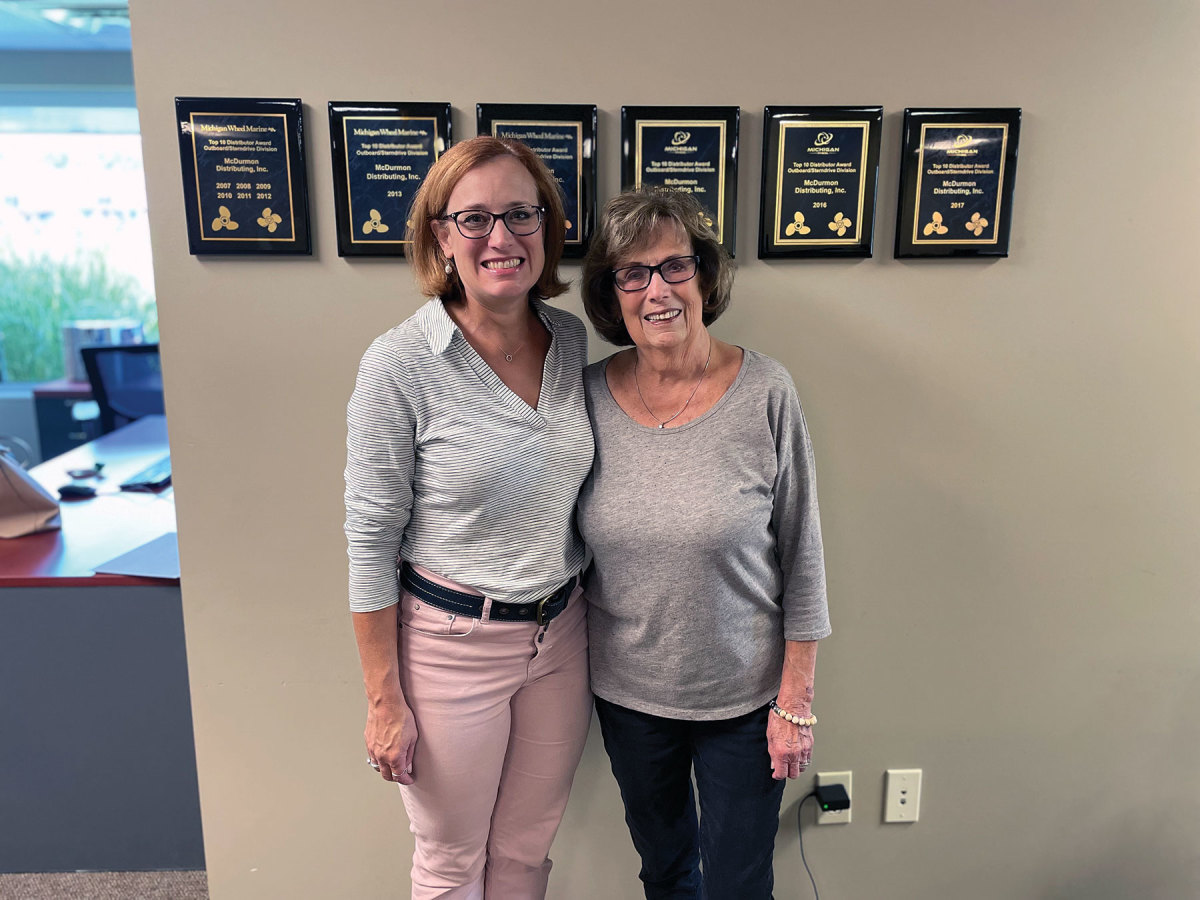 McDurmon Distributing's Stacey Jameson (left) and her business partner/mother Rayma Jean Ott have won a number of awards. Their creative solutions through the pandemic have yielded positive business results.