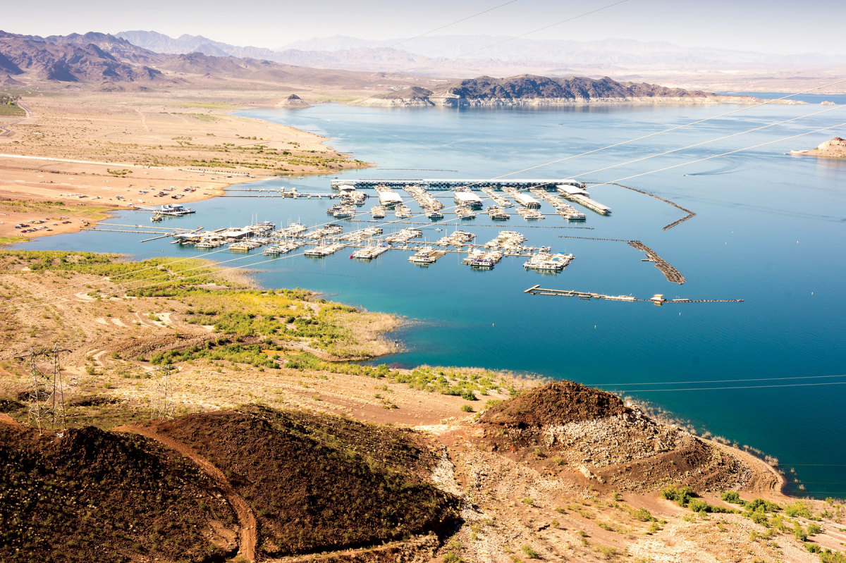 Ramp extensions are used to mitigate low water at Lake Mead's Las Vegas Boat Harbor.