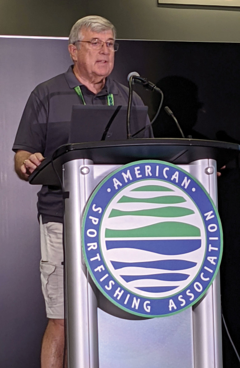 RBFF president Frank Petersonspoke  about the Take Me Fishing effort to attain 60 million anglers by year's end.