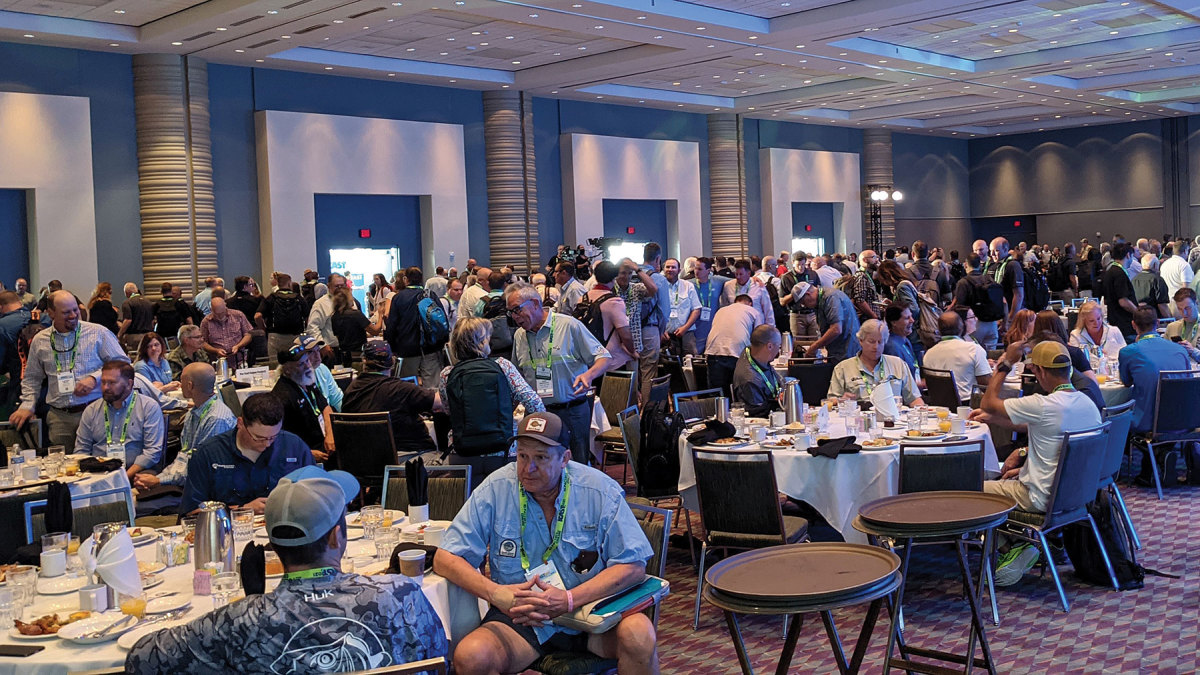 The opening day industry breakfast was well-attended.