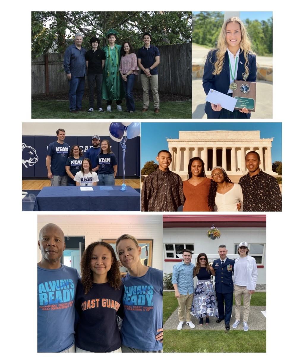 From top left: Students Christopher Albert, Abby Carlan, Isabel DeSanno, Amar Dunham, Kianna Fleek-Dixon and Ben Pierias