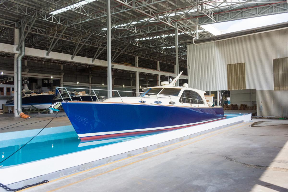 A Palm Beach model nears completion.